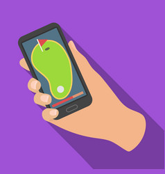 navigator in the golf course phonegolf club vector image