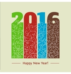 New year text design vintage vector image