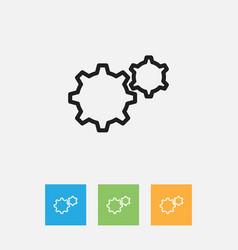 Of teach symbol on gears vector