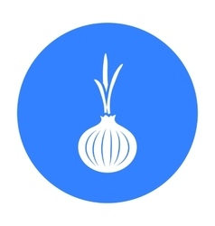 Onion icon black Singe vegetables icon from the vector image vector image
