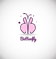 Pink purple butterfly logo icon design vector