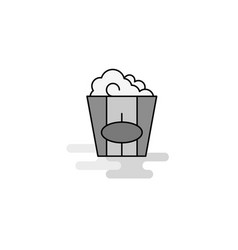 pop corn web icon flat line filled gray icon vector image