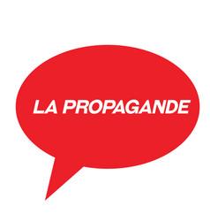 Propaganda stamp in french vector