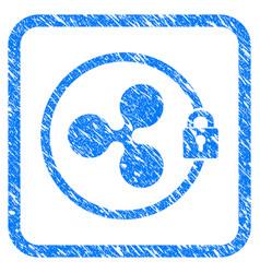 Ripple masternode framed stamp vector