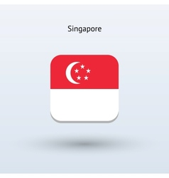 Singapore flag icon vector