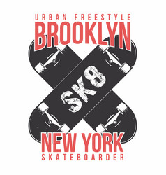 skateboarding t shirt graphic urban skating new vector image