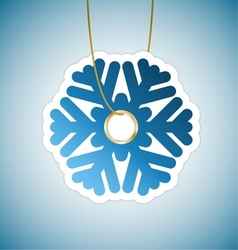Snowflake tag vector image