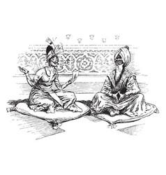 Sultans verses vintage vector