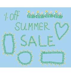 Summer sale design elements vector image