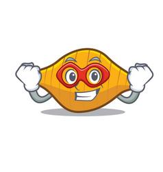 Super hero conchiglie pasta character cartoon vector