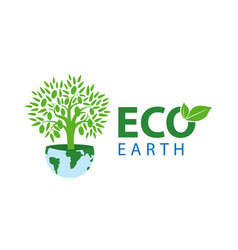 symbol of ecology with the vector image