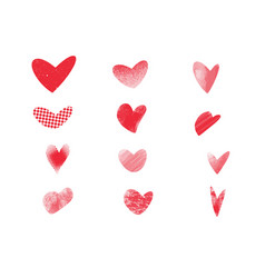 texrure hearts vector image