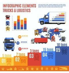 Truck Infographic Set vector