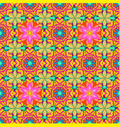 Watercolor style seamless spring pattern with vector