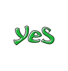 Word yes icon flat style vector