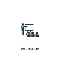 Workshop icon simple element vector