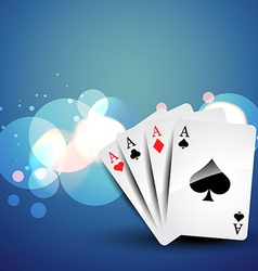 background of playcard in a bokeh effects vector image vector image