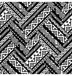 Black and white zig zag ethnic geometric aztec vector image vector image