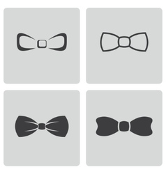 black bow ties icons set vector image vector image