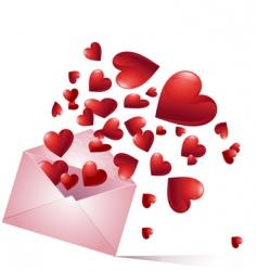 bursting hearts vector image