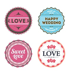 Love badges vector image