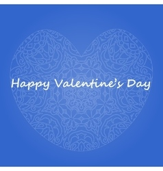 Postcard happy Valentines day vector image
