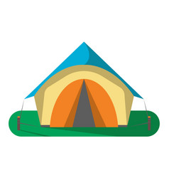 tourist camp tent icon isolated vector image vector image
