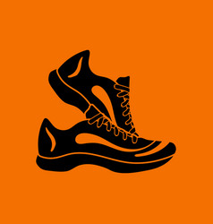fitness sneakers icon vector image