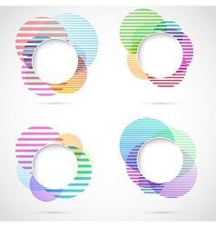 Retro striped circular design elements vector image