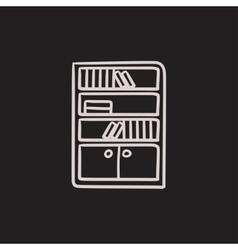 Bookcase sketch icon vector image