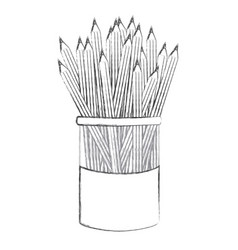 contour pencils color inside the butter jar icon vector image