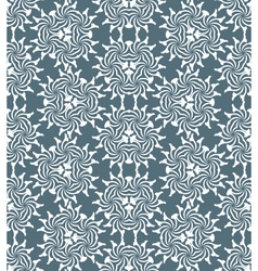 Monochrome psychedelic floral abstract seamless vector