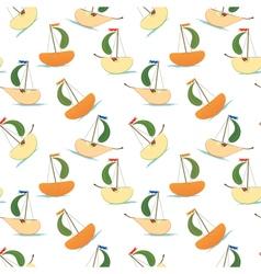 stylized fruits like ship vector image