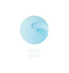 water pool spa resort logo vector image