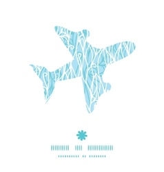 abstract frost swirls texture airplane silhouette vector image vector image