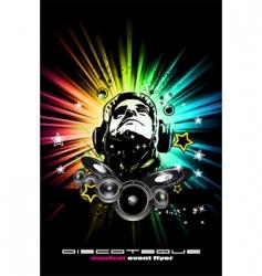 alternative discotheque Dj music flyer vector image