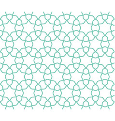 arabic lattice geometric seamless pattern vector image vector image