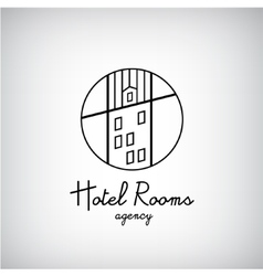 Creative concept symbol for hotel hostel travel vector image