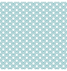 Japanese wave oriental seamless pattern vector image