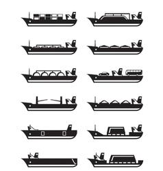 Merchant and cargo ships vector image