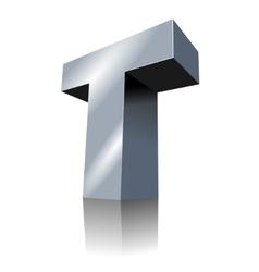 3d icon - metallic t 3 vector image