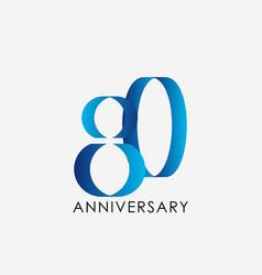 80 years anniversary template design vector