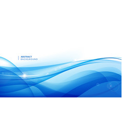 Abstract blue wavy background graphic vector