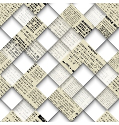 Abstract collage with patches of newspaper vector