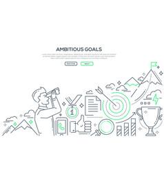 ambitious goals - line design style vector image