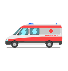 ambulance van emergency medical service vehicle vector image