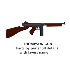 american ww2 thompson gun vector image