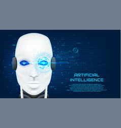 Artificial intelligence concept banner vector