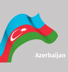 background with azerbaijan wavy flag vector image