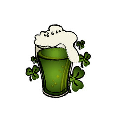 Beer green celebrarion icon vector